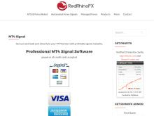 MT4 Signal  Easy Forex Signals with Verified Performance  RedRhinoFX ATS10