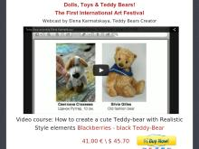 How to create a cute Teddybear with Realistic Style elements