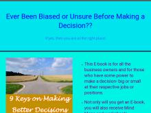 Making Better Decisions For your Business