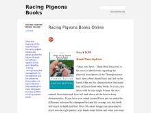Racing Pigeons Books  Racing Pigeons Advanced Techniques  Feeding Secrets