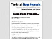 Learn Stage Hypnosis | The Art of Stage Hypnosis  The Art of Stage Hypnosis