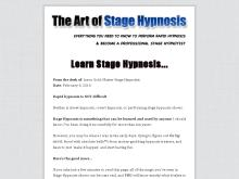 Learn Stage Hypnosis | The Art of Stage Hypnosis  The Art of Stage Hypnosis  $10 Off Special Offer