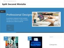 Split Second Minisite  Split Second Ecover Template 13
