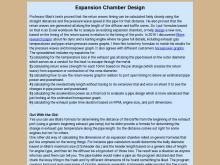 Expansion Chamber Design Calculator  Expansion Chamber Calculator