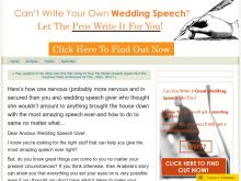 Groom Wedding Speech Consultancy Services