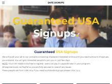 25 USA Guaranteed Signups Monthly