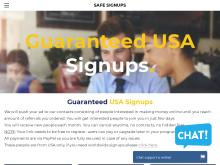 25 USA Guaranteed Signups