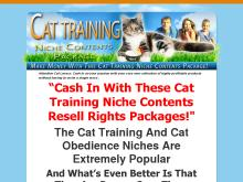CAT TRAINING NICHE CONTENT PACKAGE  Cat Training Niche Content Package