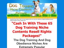 DOG TRAINING NICHE CONTENT PACKAGE