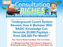 Secret Consulting Riches  Video Series  Master Resale Rights  Secret Consulting Riches