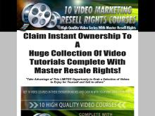 Video Marketing Resell Rights Courses