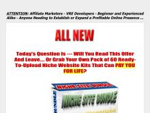 Adsense Niche Site  Niche Website Kit and Resale Rights Package  60 Niche Web Site Pack
