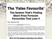 The False Favourite  system  PR1  The `False Favourite` Lay Betting System