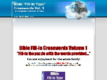 Bible Fillin Type Crosswords Ebook  Bible Fillin (word fit) Crossword Puzzles Vol 1