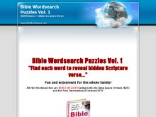 Bible Wordsearch Puzzles Ebook  Bible Word search Puzzles Volume 1