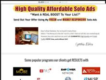CYNTHIA's SOLO ADS  GUARANTEED to BRING YOU SALES  SOLOADTRAFFIC247  GET 5000 CLICKS GUARANTEED