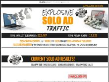 EXPLOSIVE SOLO AD TRAFFIC  4000 CLICKS  800 OPTINS  SALES GUARANTEED  Explosive Solo Ad Traffic  Get 200 Clicks  40 Optins  Sales Guaranteed