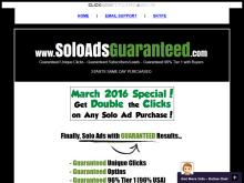 Guaranteed Unique Clicks  Guaranteed Leads/Optins   500 Clicks/150 Optins Guaranteed