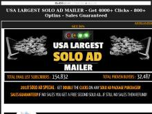 2018 USA Largest Solo Ad Mailer  4000 CLICKS  800 OPTINS  SALES GUARANTEED  USA Largest Solo Ad Mailer  Get 200 Clicks  40 Optins  Sales Guaranteed